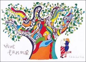 niki de saint phalle vive l'amour