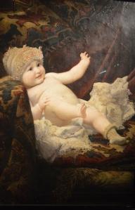 Klimt_bébé_sur_sofa