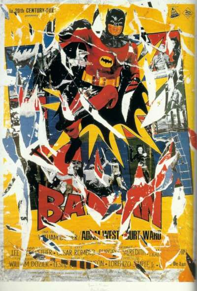 Mimmo Rotella Batman